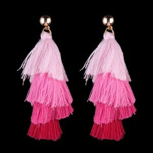 BOGOO 50% Ombre pink Tassel Earring!